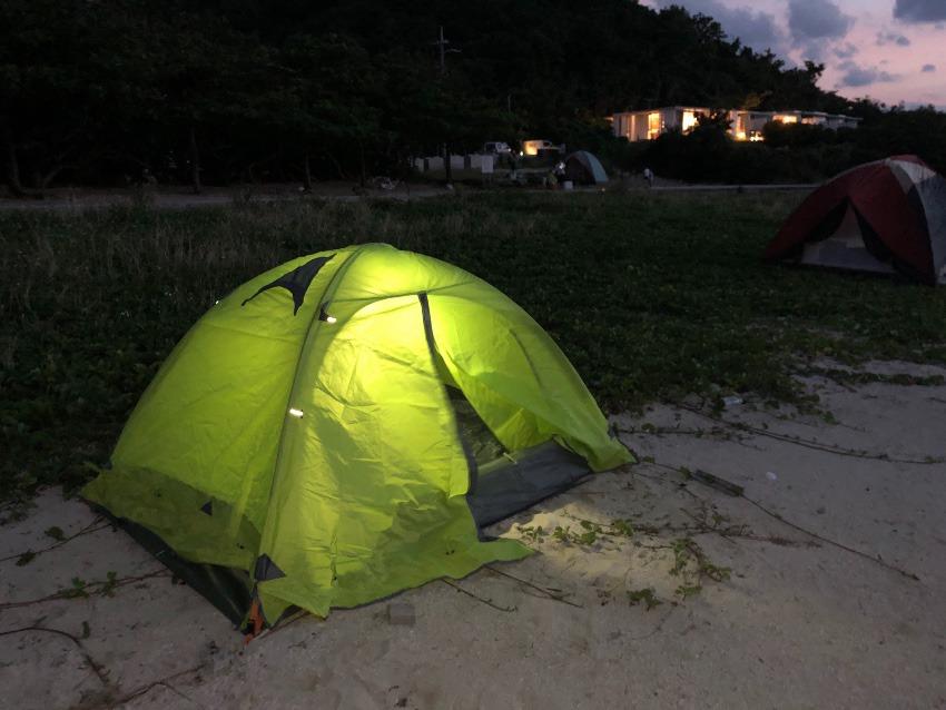 沖縄でソロビーチテント泊